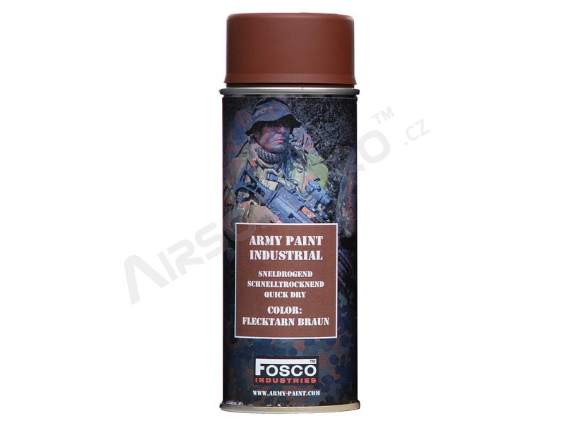 Spray army paint 400 ml. - Flecktarn Braun [Fosco]