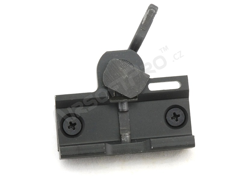 Short quick-mount RIS mount for red dots - black [JJ Airsoft]