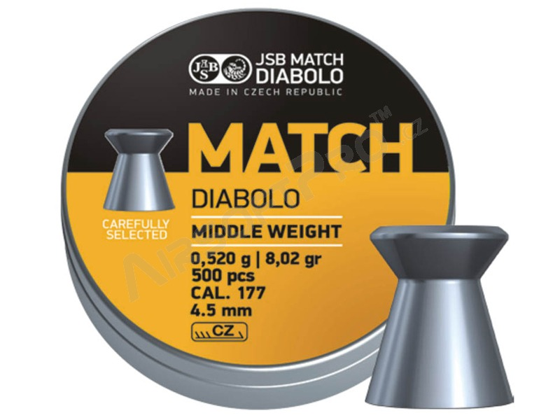 Diabolky JSB MATCH 4,5mm (cal .177) - 500ks [JSB Match Diabolo]