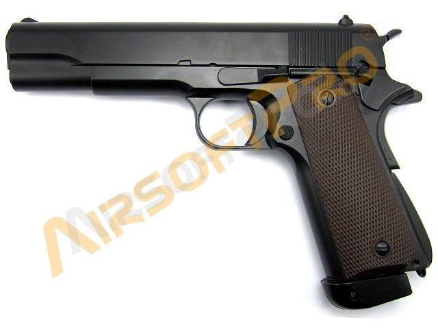 Airsoftová pistole 1911 A1 - celokov, blowback - CO2 [KJ Works]