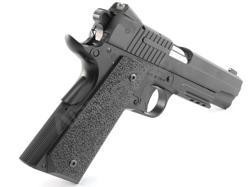 Airsoft pistol 1911 GSR CO2, metal slide, non-blowback - black [KWC]
