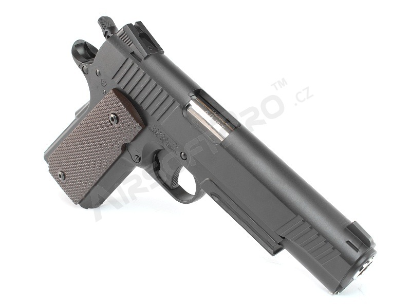 Airsoft pistol CQBP M45A1 CO2, metal slide, non-blowback - black [KWC]