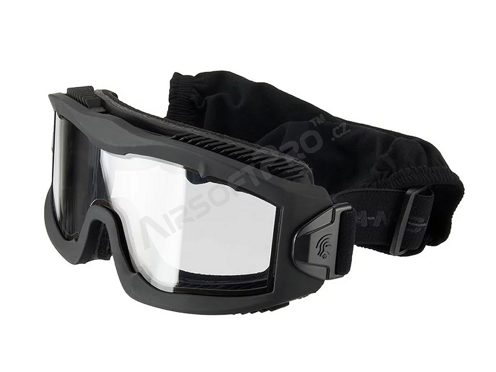 Airsoft Mask AERO Series Thermal - black, three color lens [Lancer Tactical]
