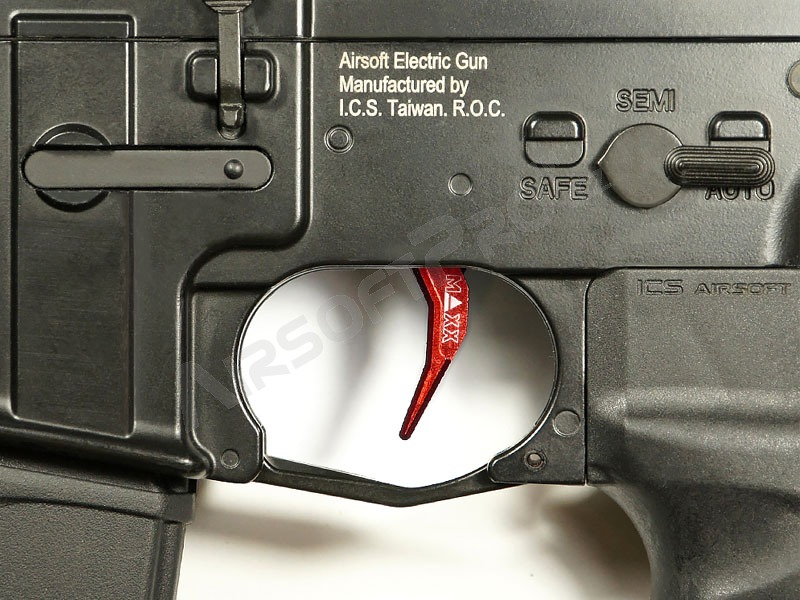 CNC Aluminum Advanced Trigger (Style C) for M4 - red [MAXX Model]