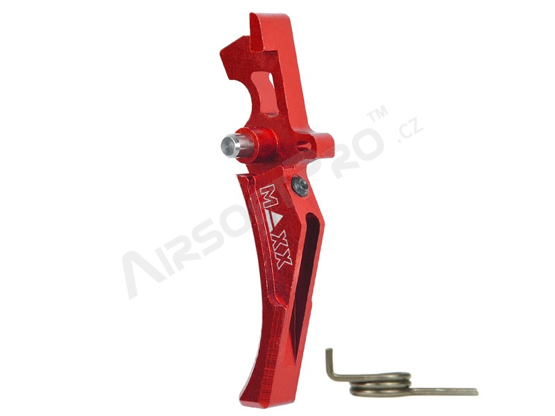 CNC Aluminum Advanced Trigger (Style D) for M4 - red [MAXX Model]