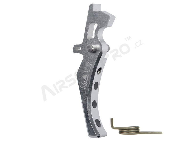CNC Aluminum Advanced Trigger (Style D) for M4 - silver [MAXX Model]