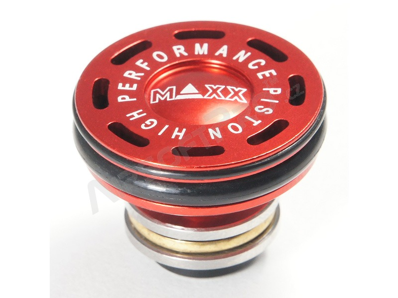 CNC Aluminum Double O-Ring Ball Bearing AEG Piston Head [MAXX Model]