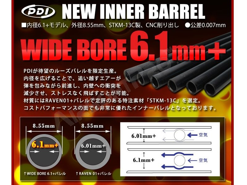 6.01+mm inner barrel 247mm (G36c, M4 CQB, P90) [PDI]