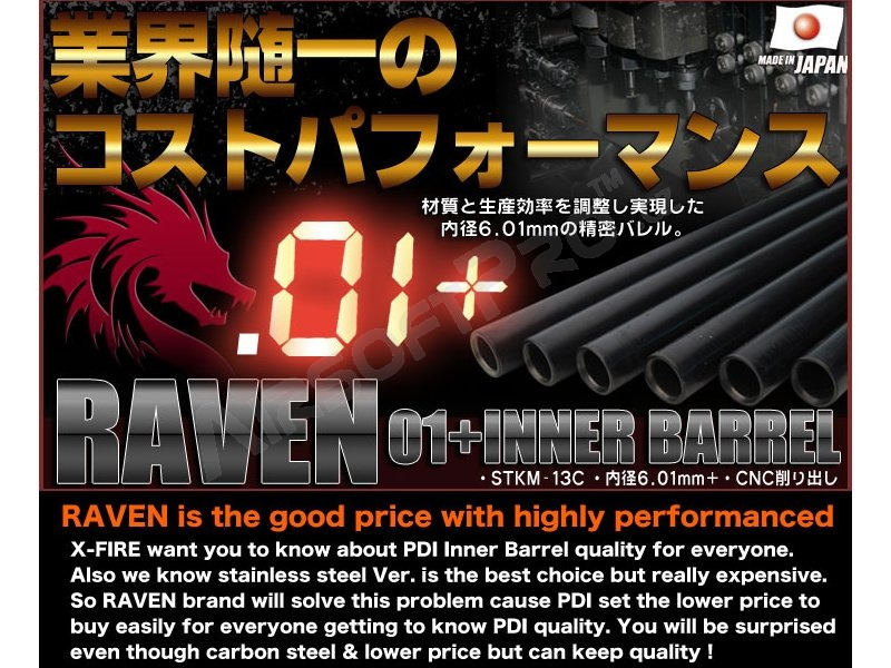RAVEN steel inner AEG barrel 6,01mm - 375mm (M4, M15A2) [PDI]