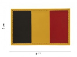 Belgian flag 3D PVC patch with velcro [101 INC]