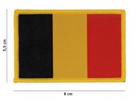 Belgian flag cotton patch - yellow edging [101 INC]
