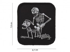 F*ck skeletons patch with velcro - black [101 INC]