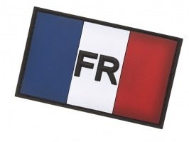 French flag 3D PVC patch with velcro [101 INC]