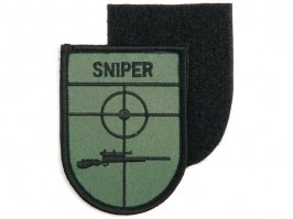Sniper (shield) patch with velcro - green [101 INC]
