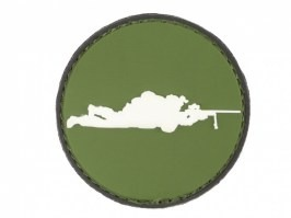 Sniper round 3D PVC patch with velcro - OD [101 INC]