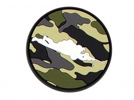 Sniper round 3D PVC patch with velcro - woodland [101 INC]