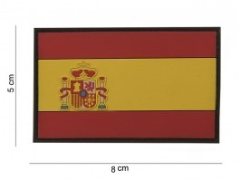 Spanish flag 3D PVC patch with velcro [101 INC]