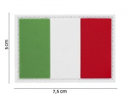 Italian flag 3D PVC patch with velcro [101 INC]