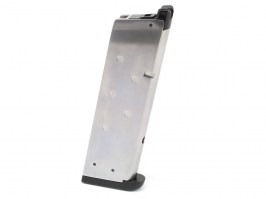 15-rounds Magazine for WE 1911, M.E.U. a D.W. 4.3 - Silver [WE]