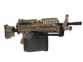 Airsoft machine gun MK46 with Retractable Stock - full metal, TAN [A&K]