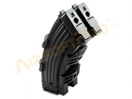 Pair of 600 rounds magazine for AK + clamp - black