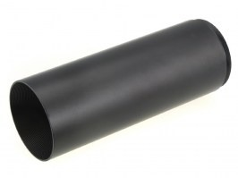 Long sun shade extender for riflescopes with 40mm lens diameter (tube 45mm) - black [A.C.M.]