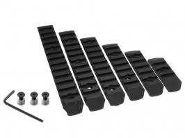 Set of 6 polymer RIS rails for KeyMod foregrip - black [A.C.M.]