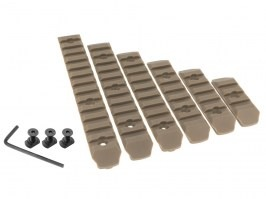 Set of 6 polymer RIS rails for M-LOK foregrip - TAN [A.C.M.]