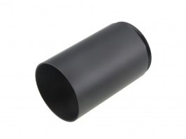 Short sun shade extender for riflescopes with 40mm lens diameter (tube 45mm) - black [A.C.M.]