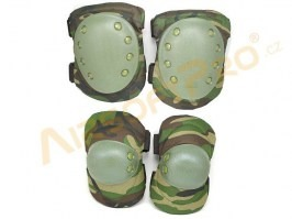 Elbow and Knee pad set - Woodland [A.C.M.]