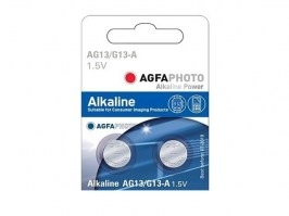 Alkaline button battery 1,5V AG13 / LR44W - 1pc [AgfaPhoto]