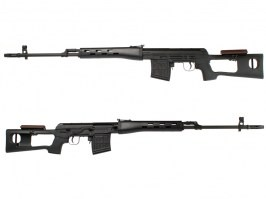 SVD spring action sniper rifle, 500 FPS - black [AimTop]