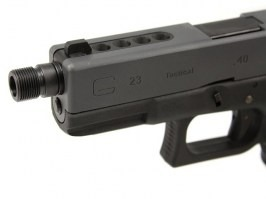 WE pistols silencer adaptor - short, black [AirsoftPro]