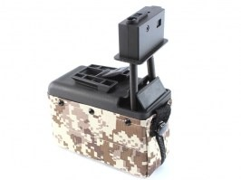 Mini 1500 rounds magazine for M249 Minimi - Digital desert [A&K]