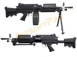 Airsoft machine gun MK46 with Retractable Stock - full metal [A&K]