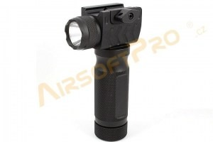 CNC metal vertical grip with ultra flashlight [Shooter]