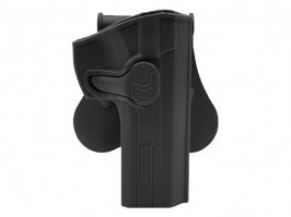 Tactical polymer holster for CZ P01 - black [Amomax]