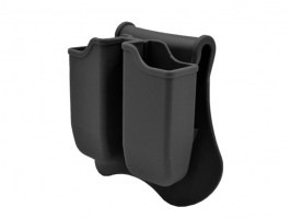 Tactical double magazine pouch for G-series - black [Amomax]