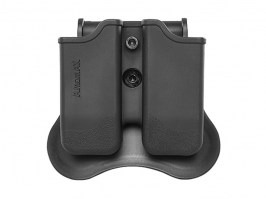 Tactical double magazine pouch for M9/P226/CZ P09 - black [Amomax]