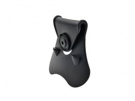 Ergonomic belt paddle for Amomax holster - black [Amomax]