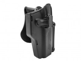 Tactical polymer universal holster Per-Fit - black [Amomax]