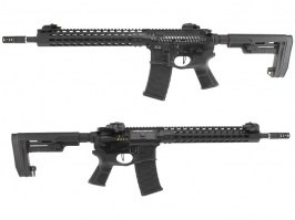 Airsoft rifle M4 ASR120B Match FMR MOD1 RB Black Dragon - black