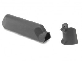 Amoeba Striker pistol grip + cheek pad set - black [Ares/Amoeba]