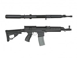 CSA VZ58 MIDDLE, M4 version, full metal - black [Ares/Amoeba]