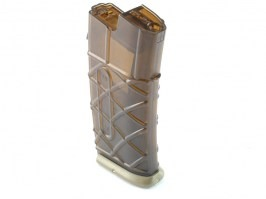 AUG AEG magazine - 330 Rounds, transparent, TAN base plate [Army]