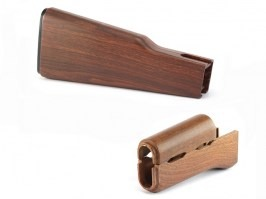 Plastic wood style hand guard set for AK47 AEG series  [Army]