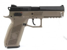 Airsoft pistol CZ P-09 DT FDE, metal slide, Gas blowback + case [ASG]