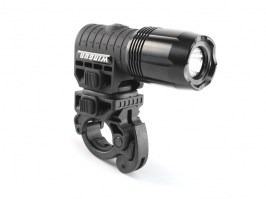 Multifunction 3W LED Flashlight with 2 Mounts  - black [ASG]