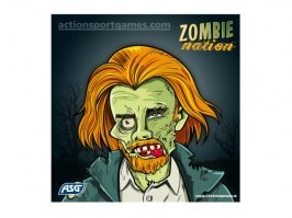 Cardboard target Zombie nation 14 x 14 cm No.3, 10pcs [ASG]