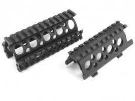 M83U style rail for AK74U - black [Big Dragon]